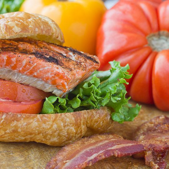 Smoky Salmon BLTs from the Grill