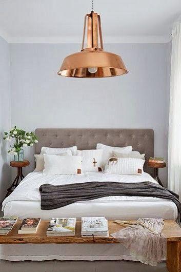 Rose Gold Overhead Bedroom Light Interiors Pinterest