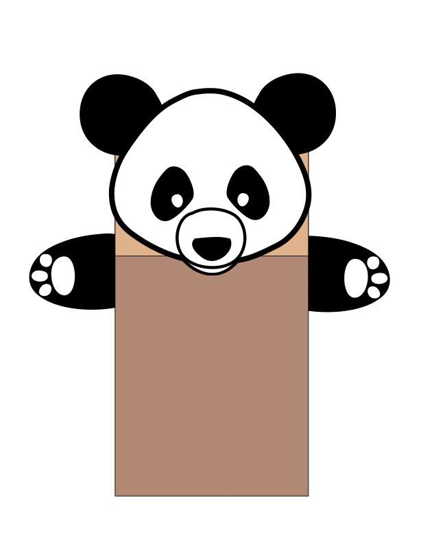 Panda template kids - photo#17