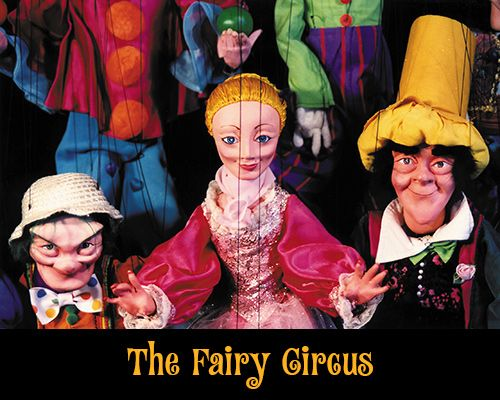 Thursday, July 10 - The Fairy Circus by Tanglewood Marionettes. Turn-of-the-century-style trick puppetry. The puppets dance, play instruments, juggle, contort, transform, and fly through the air with the greatest of ease.