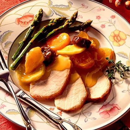Roast Pork with Warm Fruit Sauce | Foods | Pinterest