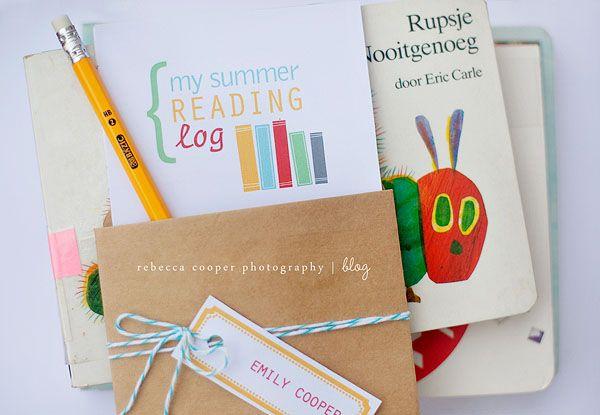 Summer reading log printables