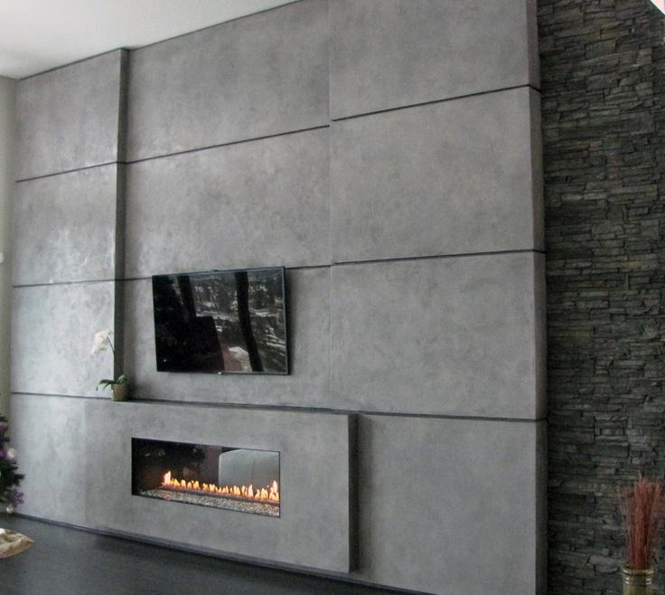 Stamped Concrete Fireplaces : Fireplace design decorative concrete
