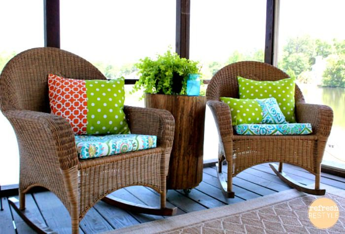 Outdoor Living - Refreshing Fabric - Refresh Restyle - DIY Patio Refresh - Heidi Milton - Mohawk Homescapes