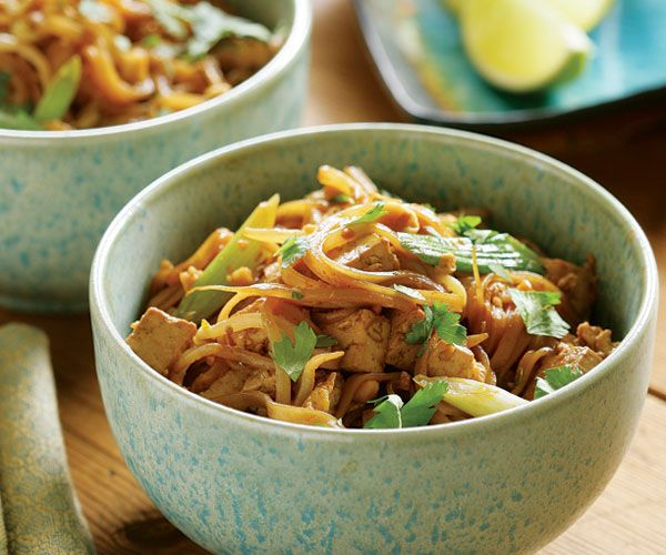 Stir-Fried Noodles with Tofu, Scallions & Peanuts Recipe   Noodles ...