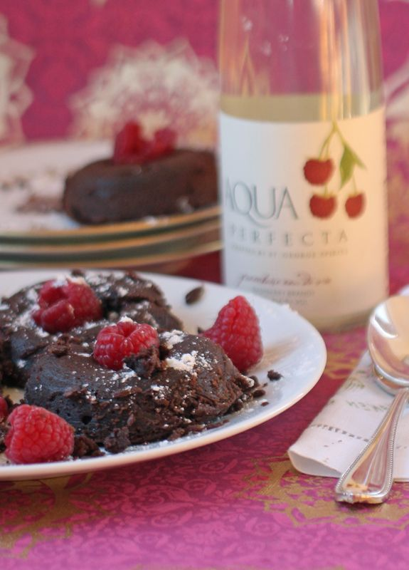 Lava Cake with Fresh Raspberries {Gluten-Free or Regular}