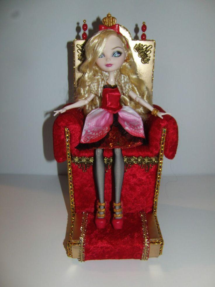 Как сделать трон для кукол эвер афтер хай своими руками