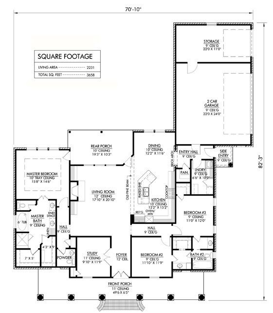 Acadian Plan House Stuff Pinterest