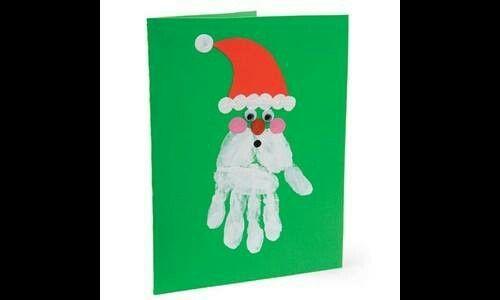 Noel mano preparando navidad pinterest - Tarjeta de navidad para ninos manualidades ...