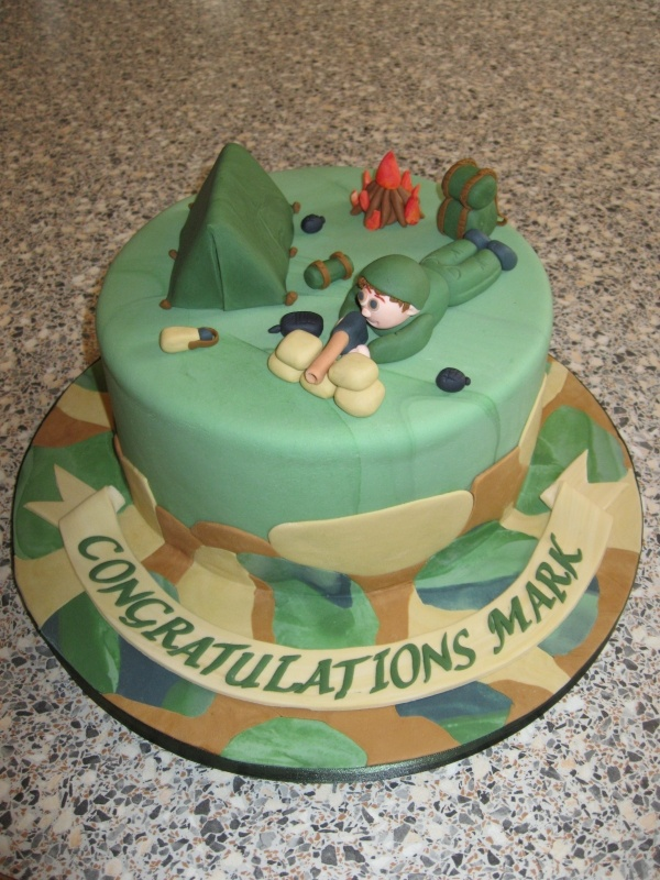 Army birthday cake decorations image inspiration of cake for Army cake decoration