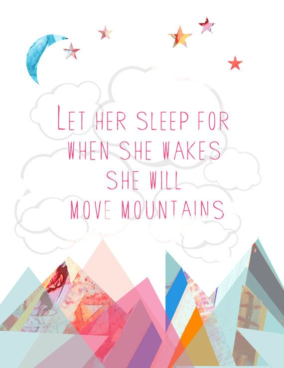 INSTANT DOWNLOAD Let Her Sleep Art Print by UrbanVarieties on Etsy