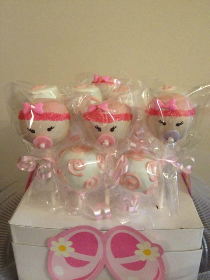 Living Room Decorating Ideas: Baby Shower Cake Pops Girl