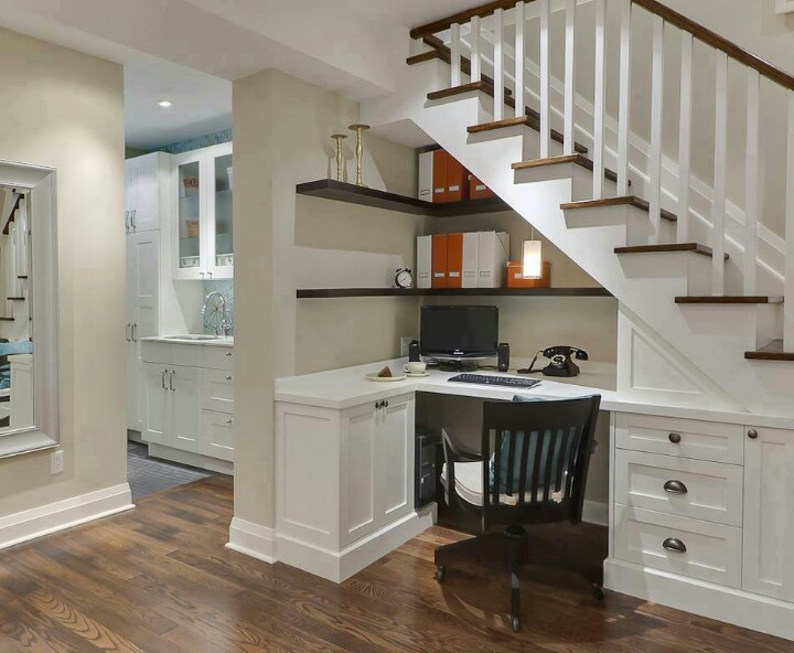 Office Nook Under Stairs For The Home Pinterest