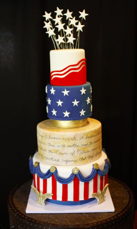 topsy turvy fourth of july cake | Fourth of July Cake