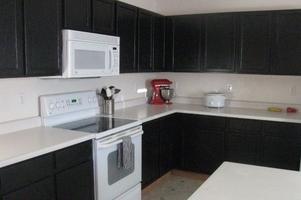 Black Kitchen Cabinets Painted For The Home Pinterest