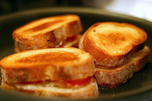 classic grilled cheese + cream of tomato soup