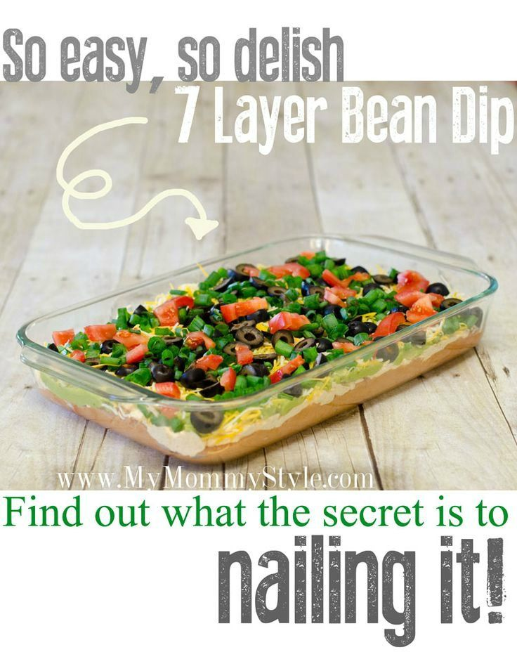 7-layer-bean-dip-best-easy-recipe | Appetizers to die for ...