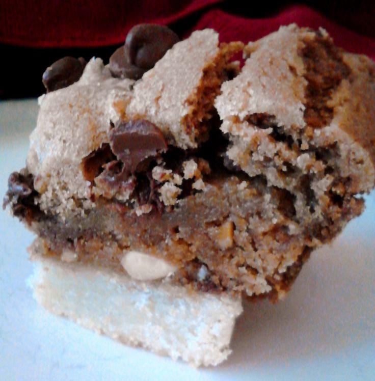 Three Layer Cookie Bar (Shortbread, Peanut Butter & Chocolate Chip)