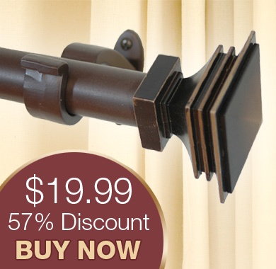 huge discount on curtain rods