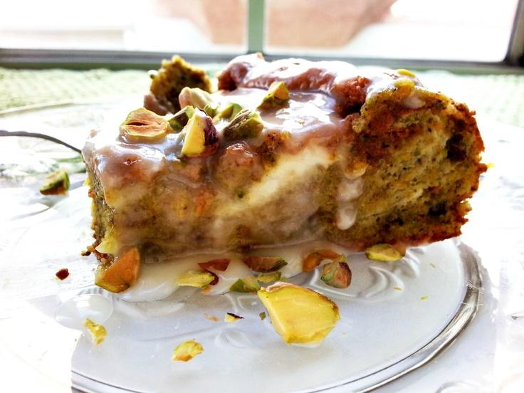 Pistachio Cake with Meyer Lemon Glaze | Sweet Food! | Pinterest