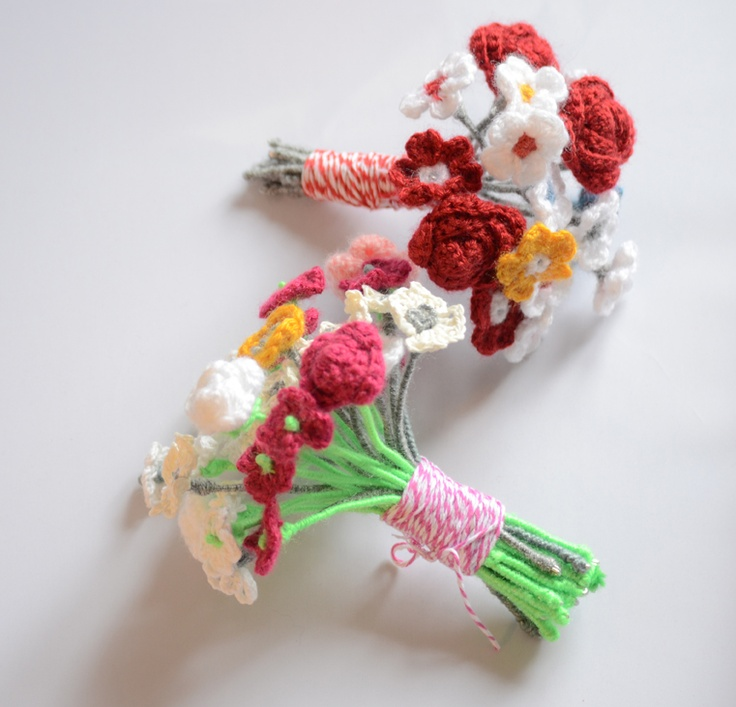 flower crochet, handmade, DIY, sculpture crochet, flower bouquet