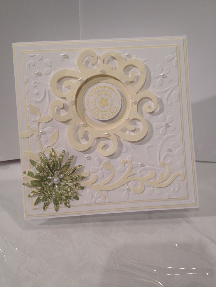 Elegant thank you card: www.pinterest.com/pin/357614026633438472