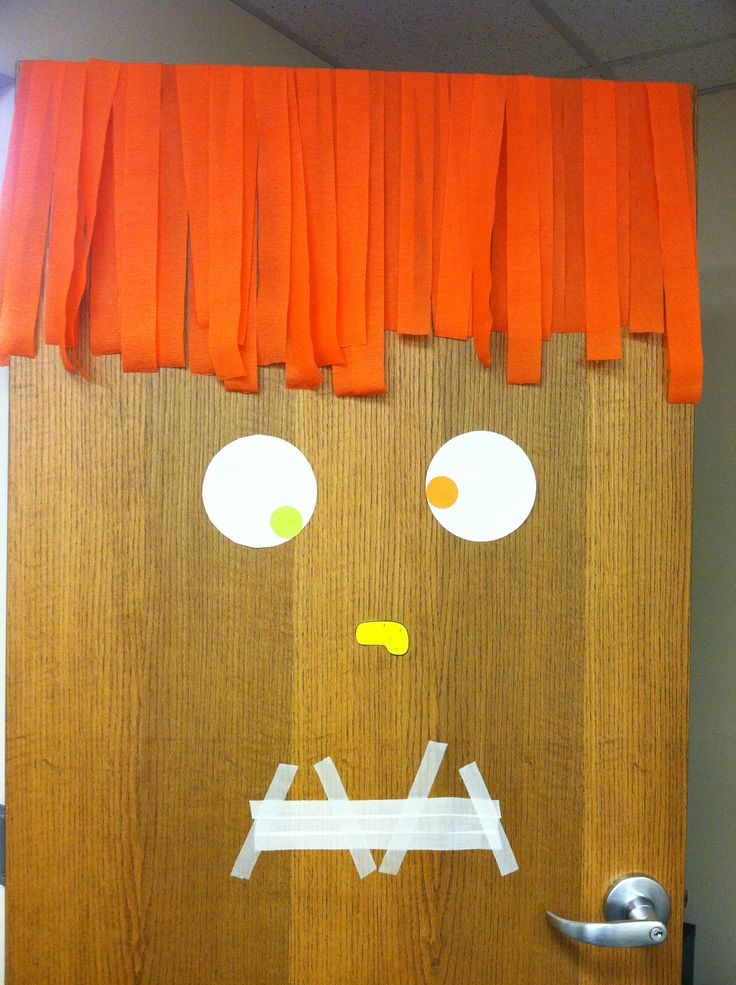Brilliant Halloween Office Door Decorations Ideas Silhouette Door Art