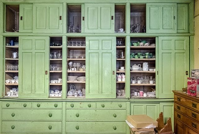 Built in Emerald Green Cabinet  Kitchen and Dining  Pinterest