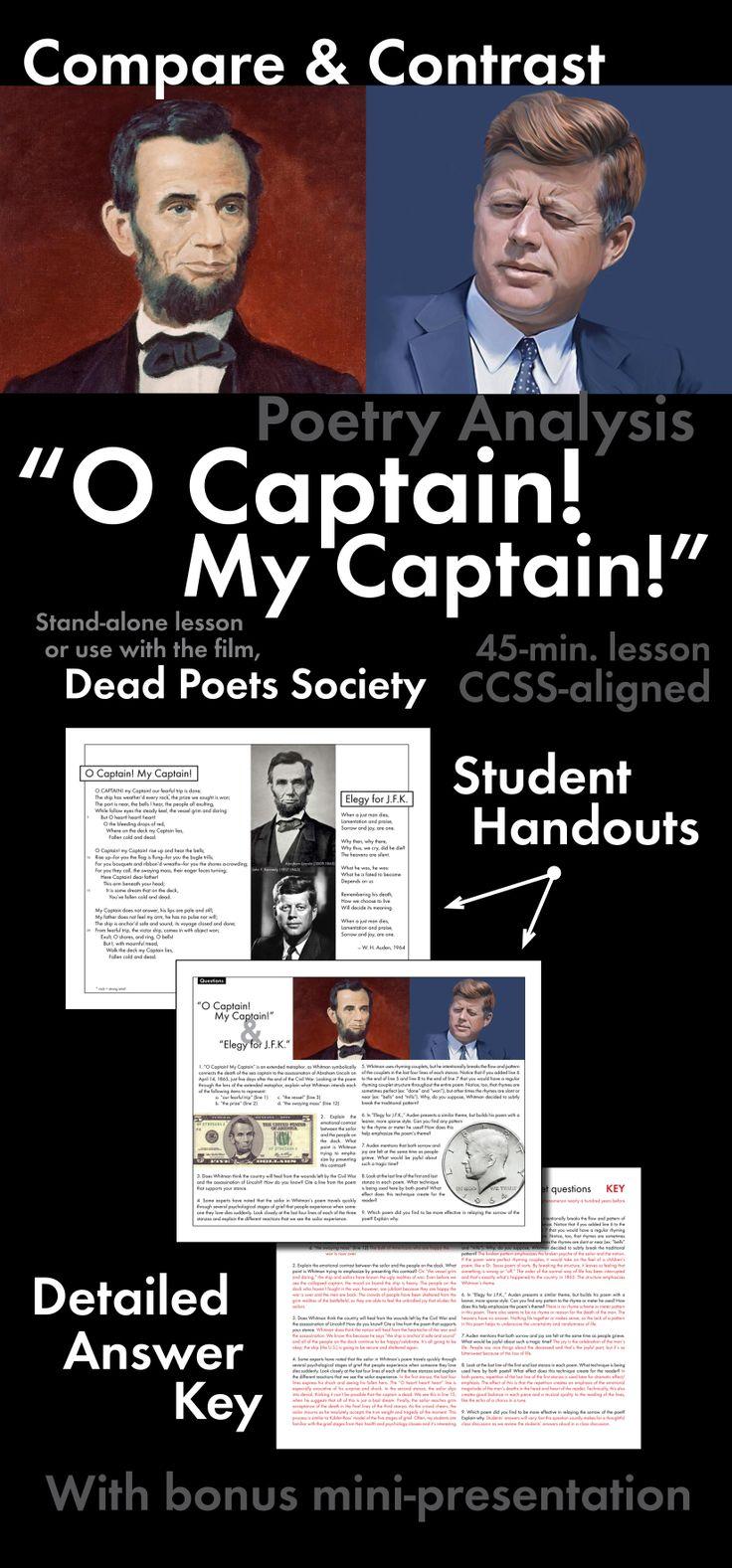 O Captain My Captain Essay