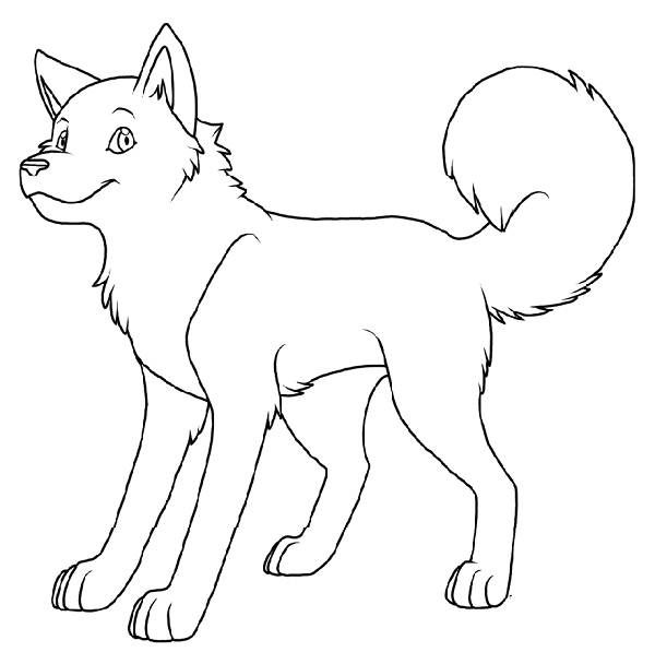 cute husky coloring pages - pin coloring page husky puppy cute cartoon characters