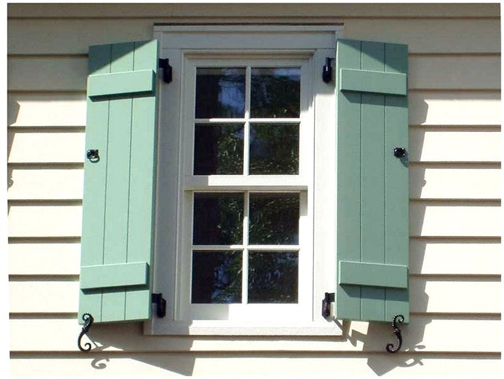 Batten board shutters exteriors house plans pinterest for Board and batten shutter plans