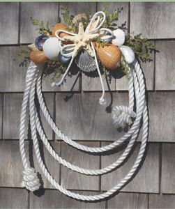 Nautical rope shell wreath sea shell craft ideas for Where to buy nautical rope for crafts