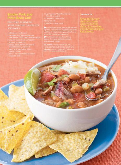 Smoky Pork and Pinto Bean Chili | Food | Pinterest