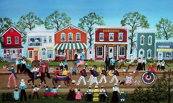 4th of july folk art