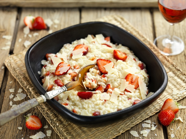 Strawberry Risotto by Gennaro via Bertolli.co.uk Try it here http ...