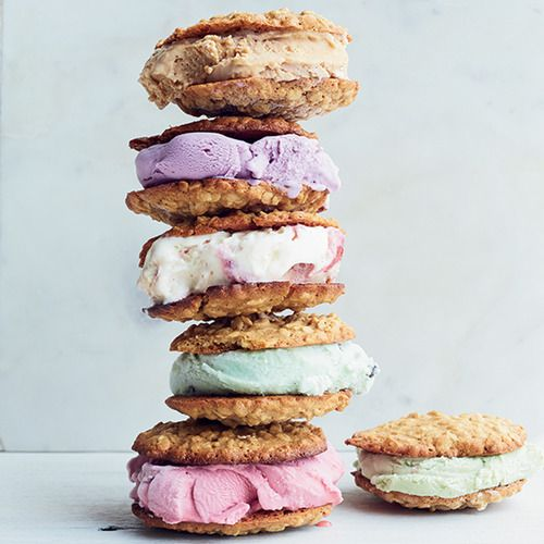 Cardamom-Oatmeal Cookie Ice Cream Sandwiches | Recipe