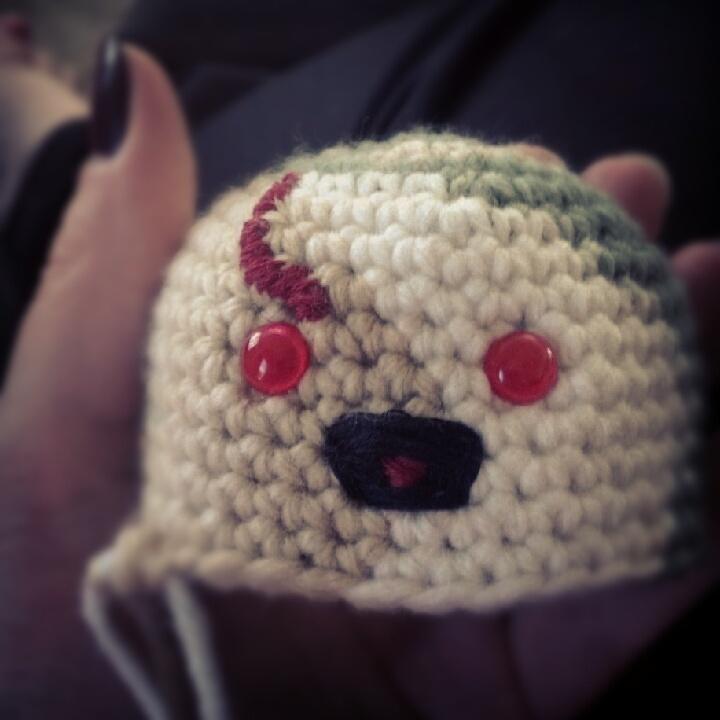 Amigurumi zombie head. crochet Pinterest