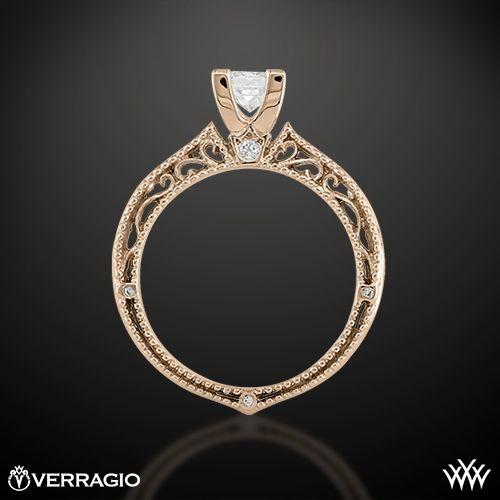 20k rose gold verragio afn 5001p 2 scrolled pave diamond