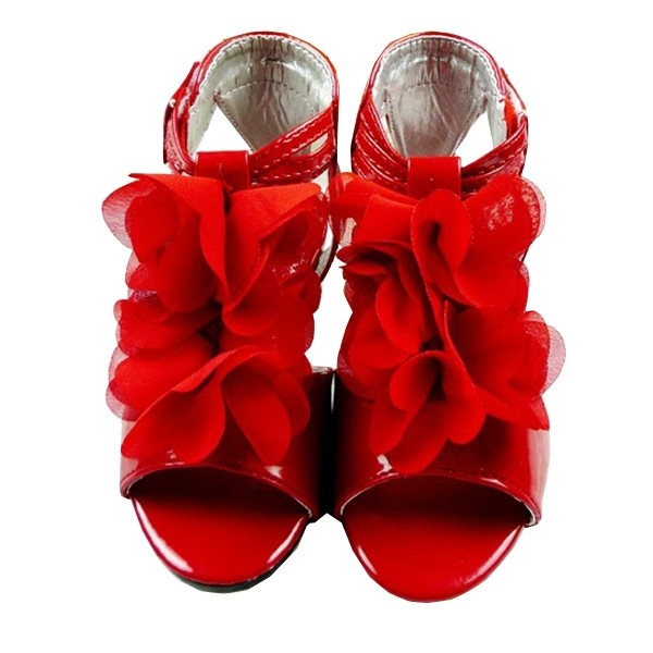Beautiful sandals | Beautiful Manual Chiffon Sandal Kids Shoes for