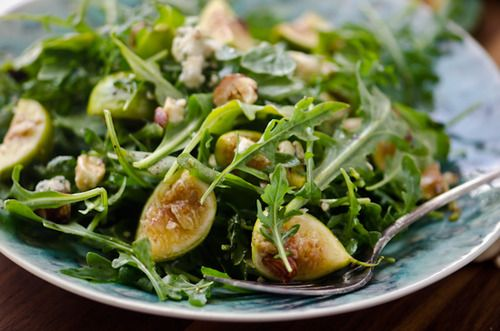 Arugula, fig, and blue cheese salad - For more information visit: http ...