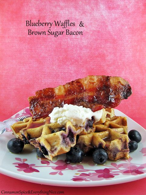 Brown Sugar Bacon & Blueberry Waffles