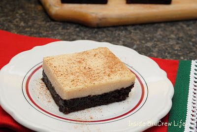 Eggnog Cheesecake Brownies. (Should make these at a Christmas party) O ...