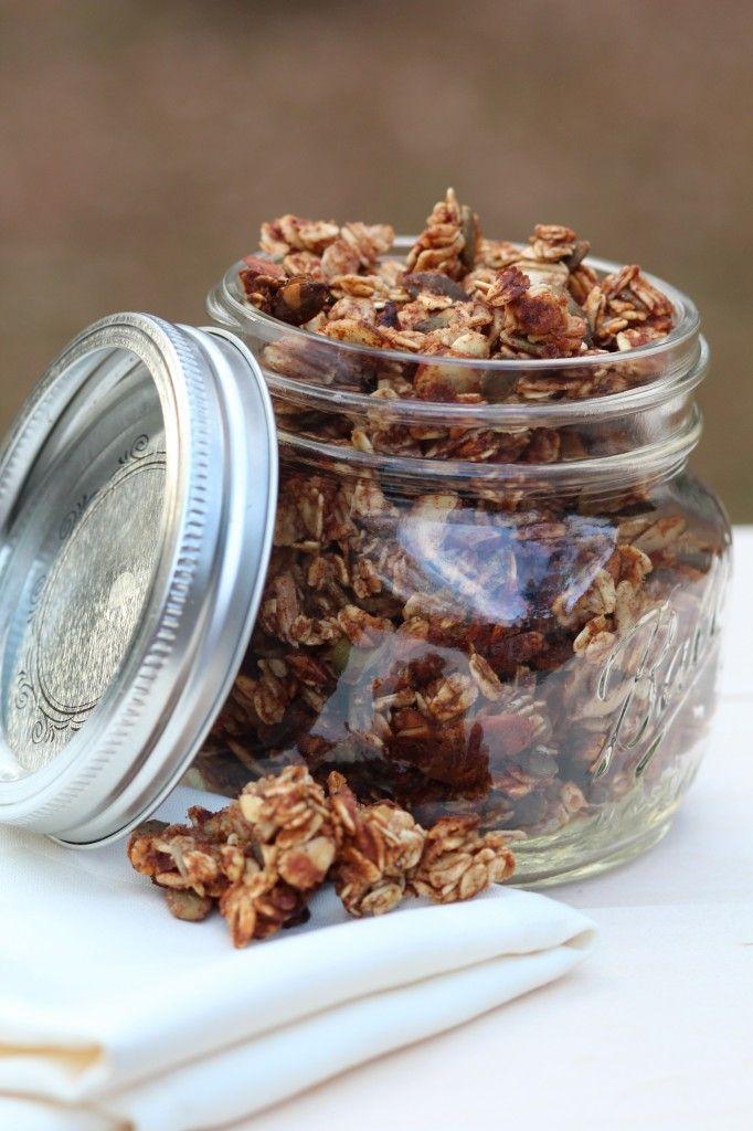 apple cinnamon granola | Baking and breakfast | Pinterest