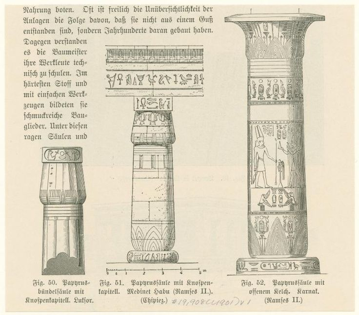 Egyptian Columns Architectural History Of Ancient Egypt Pinterest