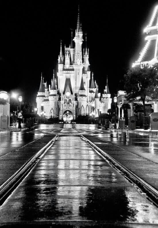 Disney World in black and whiteDisney Castle Black And White