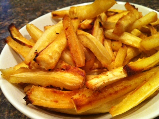 Honey Ginger Parsnip Fries...how had I never had parsnips before ...