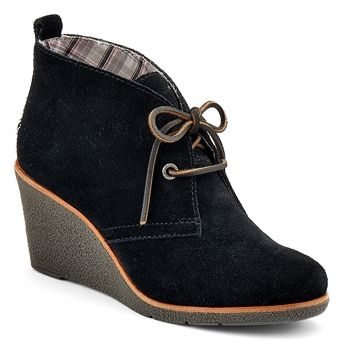 wedge bootie black