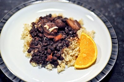Brazilian Feijoada ~ Brazilian Black Beans and Rice with Sausage