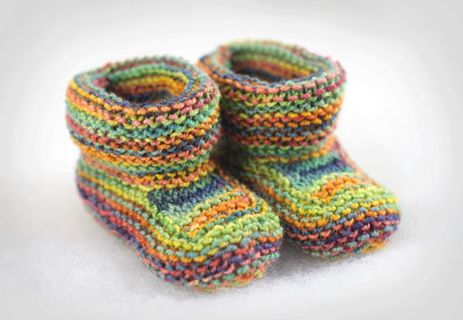 Seamless Baby Booties Knit Pattern Free