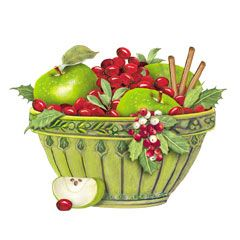 Cranberry Green Bowl